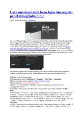 Cara membuat slide form login dan register panel diblog buka tutup.doc