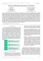 Cloud based Multimedia Storage System Providing QoS.pdf