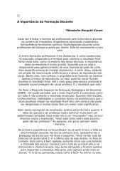 A Importância da Formação Docente.doc