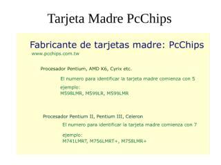 Tarjetas Madres del Mercado 2.ppt