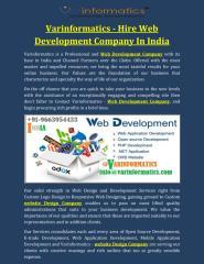 Varinformatics - Hire Web Development Company In India.pdf