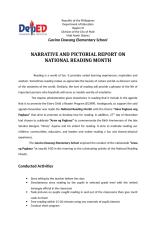 narrative and pictorial report on national reading month.docx