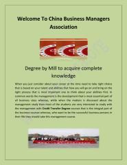 Credit Transfer Degree At www.hkcbma.org.pdf