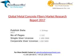 Global Metal Concrete Fibers Market Research Report 2017.pptx