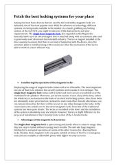 Fetch the best locking systems for your place.pdf