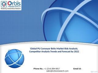 Global PU Conveyor Belts Market by 2022.ppt