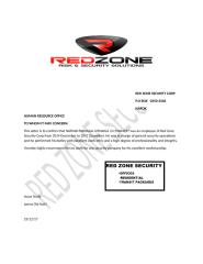 RED ZONE SECURITY CORP RECOMEND.docx