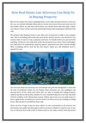 How Real Estate Law Attorneys Can Help Us In Buying Property.doc