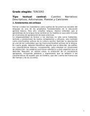 planificación lengua - cuentos narrativos descriptivos, adivianzas, poesías y canciones.doc